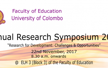 Annual Research Symposium 2017 – Faculty of Education
