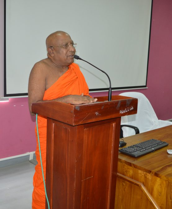 Guest lecture by Ven.Professor Devalegema Madhananda thero