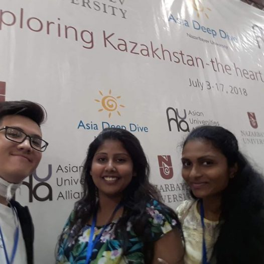 Two Bachelor of Education Students from University of Colombo visit Kazakhstan