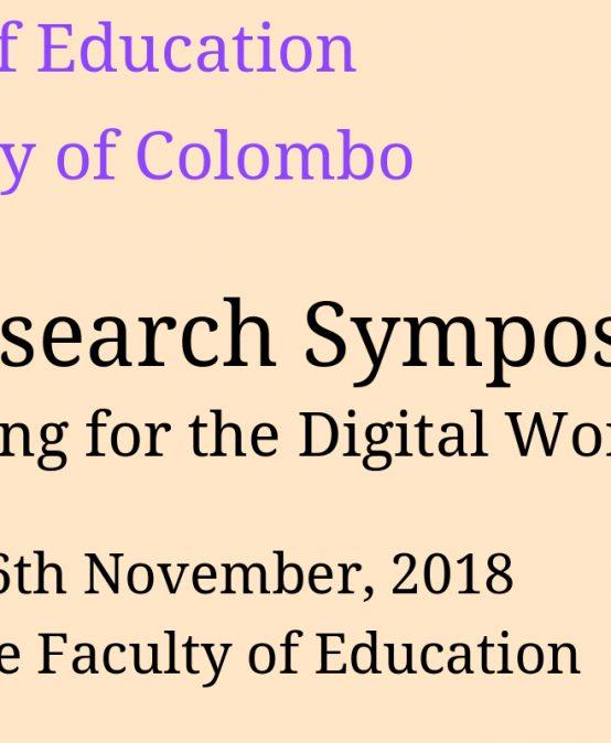 Annual Research Symposium -2018