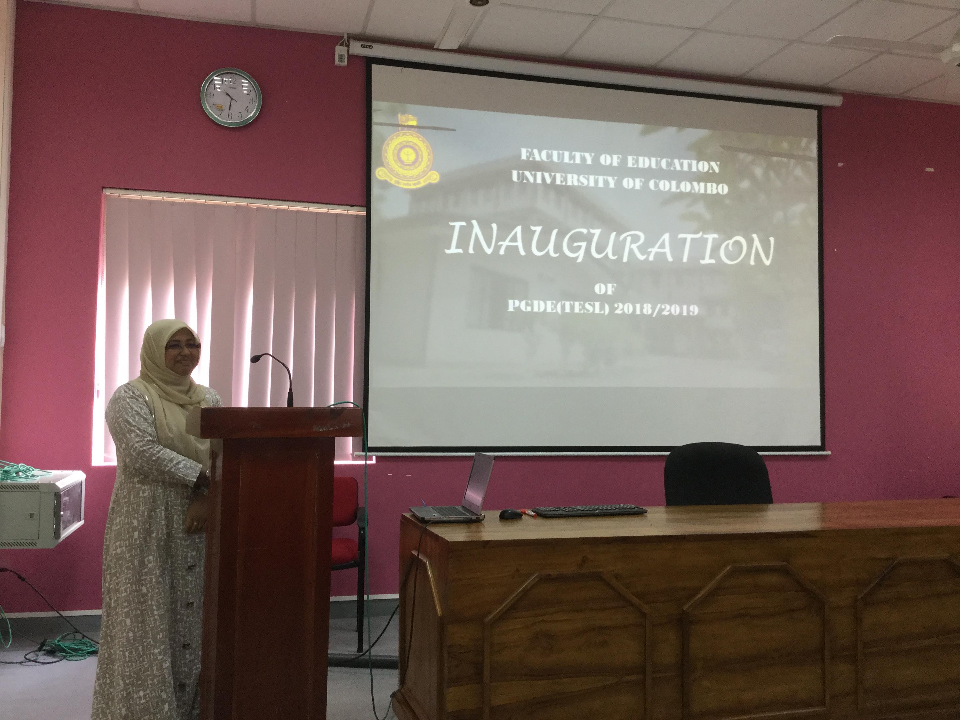 TESL 2018/2019 course inauguration