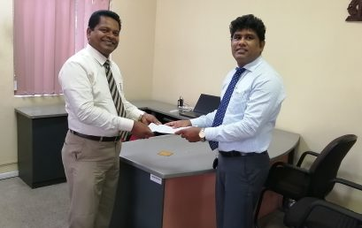 Dr. Lakshman Wedikkarage assuming duties as the new Director of the National Education and Research Centre